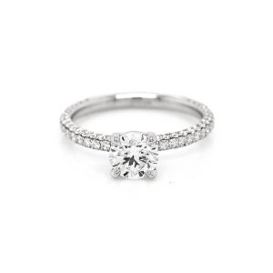 Micro pave diamond engagement ring OroSpot
