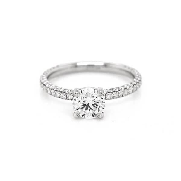 Micro pave diamond engagement ring OroSpot