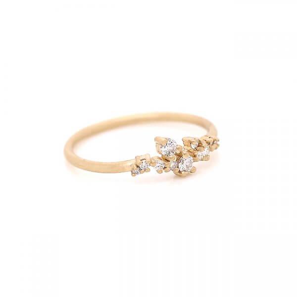 Modern Minimalist Diamond Wedding Ring