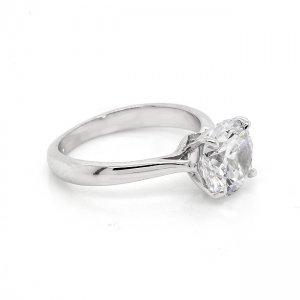 Modern Round MOissanite Engagement Ring