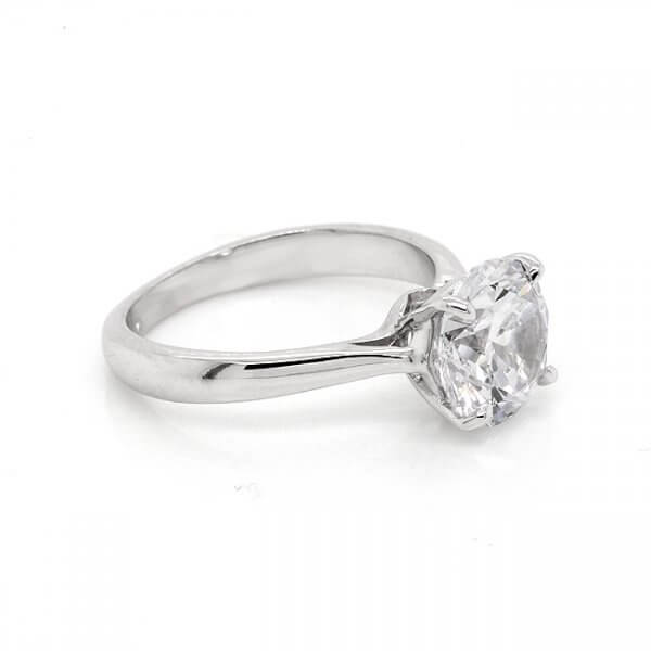 Modern Round MOissanite Engagement Ring