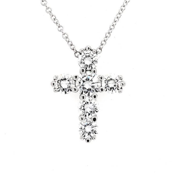 Moisssanite Cross Crucifix Necklace