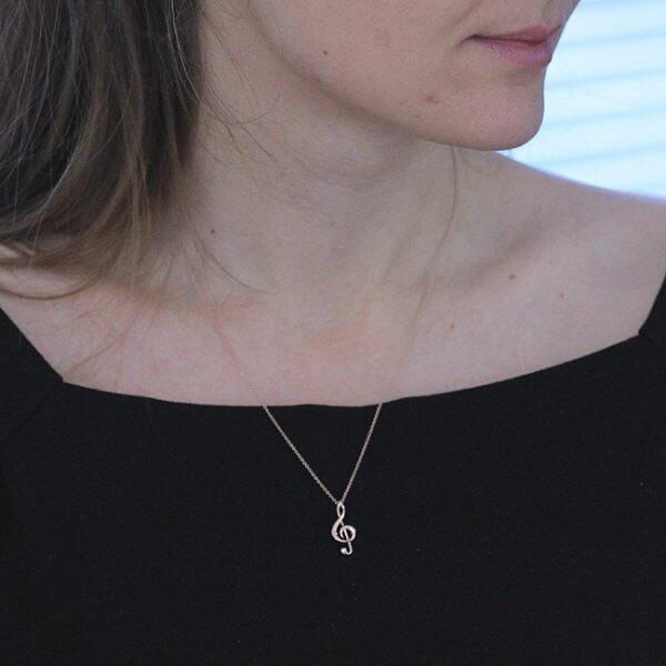 Music symbol pendant necklace OroSpot