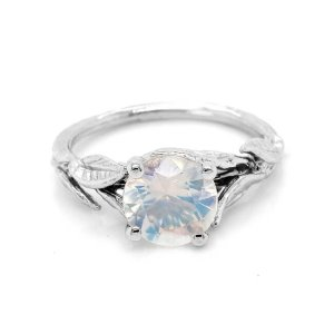 Nature Inspired Moonstone Engagement Ring OroSpot