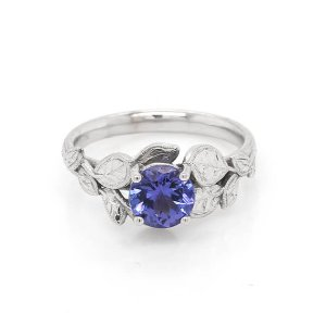 Nature inspired Tanzanite engagement ring Custom Engagement Rings by OroSpot