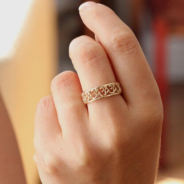OM AUM Band Ring Hindu Spiritual Symbol OroSpot