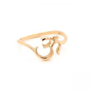 OM AUM Hindu spiritual symbol ring