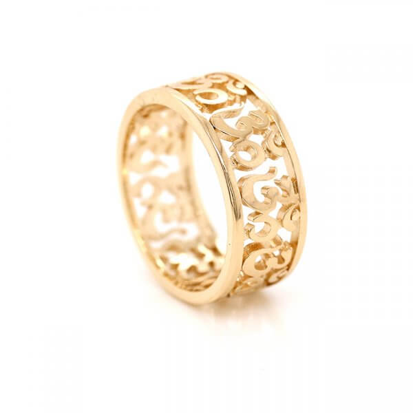OM AUM Hinduism wedding band