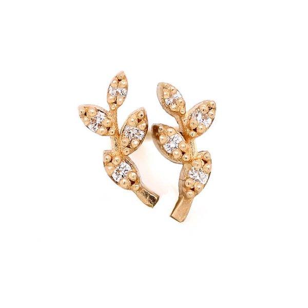 Olive Branch Diamond Earrings OroSpot