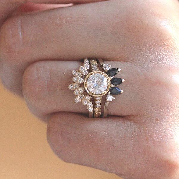 Ring Enhancer Diamond Curved Band