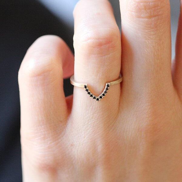 Ring Guard Black Diamond Ring