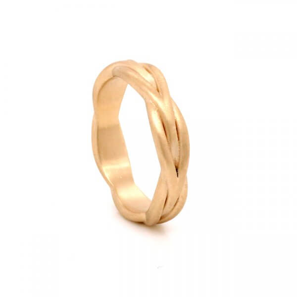 Rope Wire Ladies Wedding band