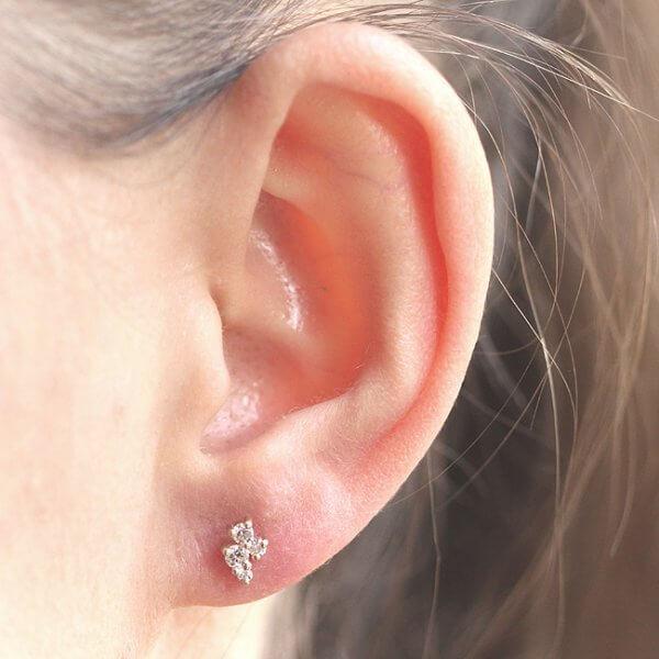 Simplistic diamond cluster earrings OroSpot