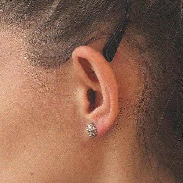 Small Chimp Monkey Head Earrings in Gold OroSpot