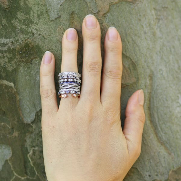 Stackable wedding ring Bands by OroSpot