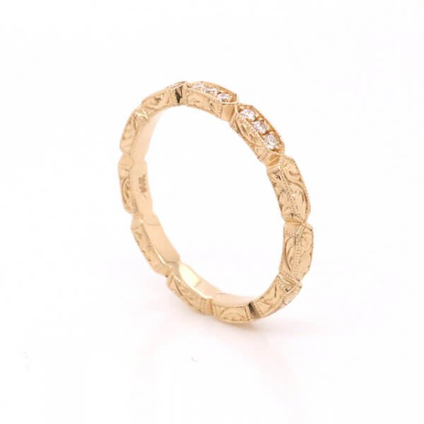 Stackable Diamond Etched band