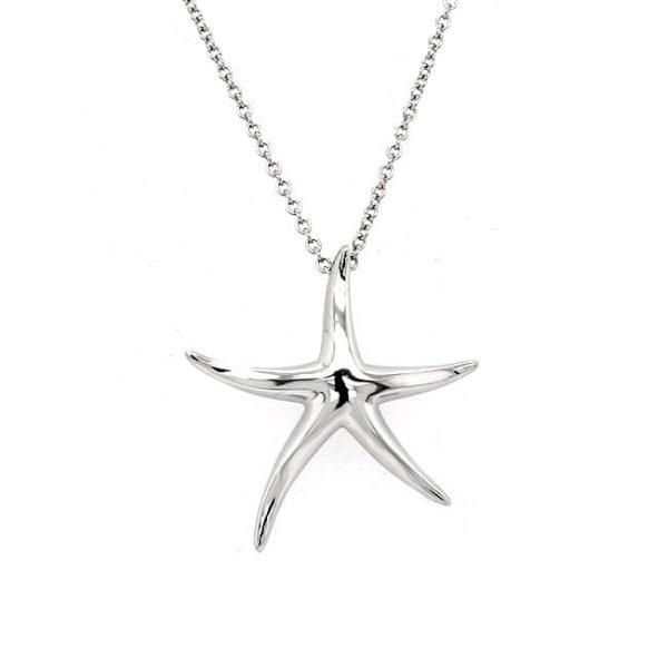 Star Fish Gold Pendant Necklace OroSpot