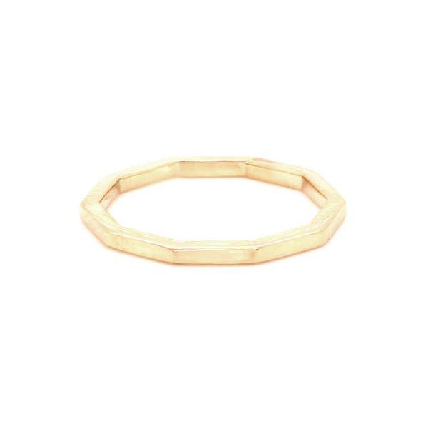 Ten sided skinny gold wedding ring OroSpot