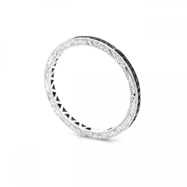 Thin Black Diamond Etenrity Ring