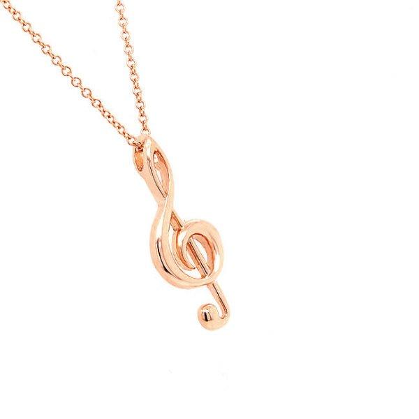 Treble clef music charm in gold OroSpot