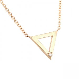 Triangle Diamond Pendant Necklace OroSpot