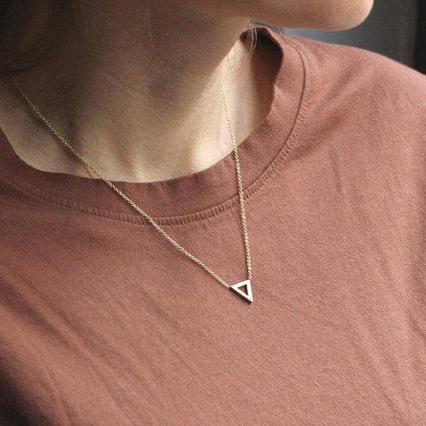 Triangle strength symbol diamond pendant