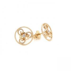 Triple Spiral of Life Earrings OroSpot