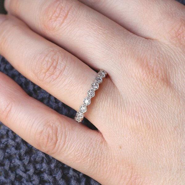Unique Diamond Wedding Ring OroSpot