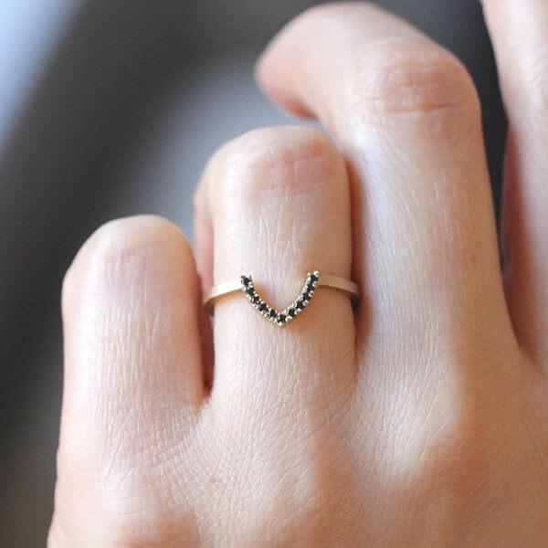 V Ring Enhancer Diamond Band