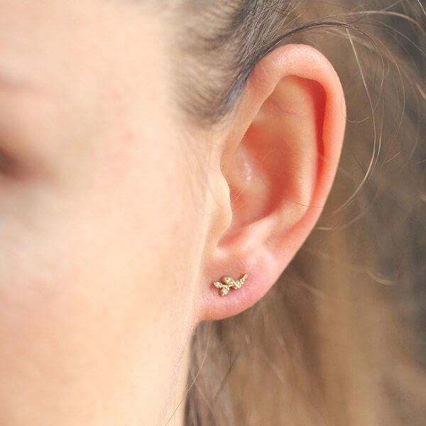 Vine Small Diamond earrings