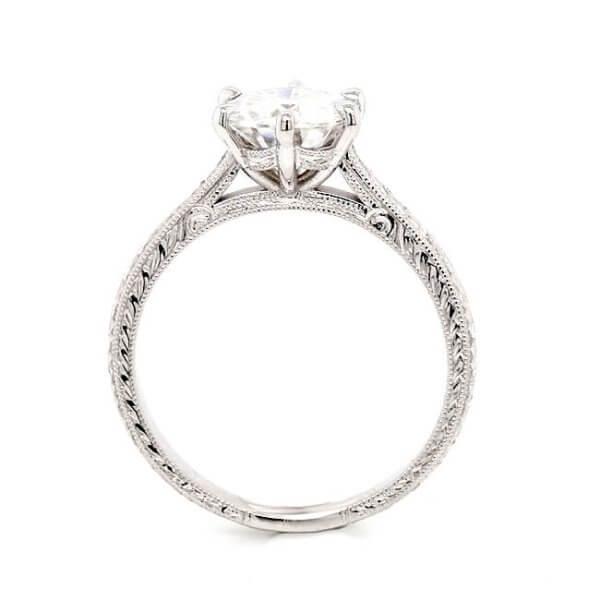 Vintage moissanite engagement ring