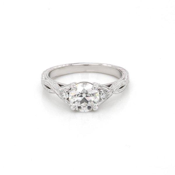 Vintage OEC Moissanite Braided Engagement Ring