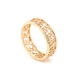 yoga OM AUM solid gold wedding ring