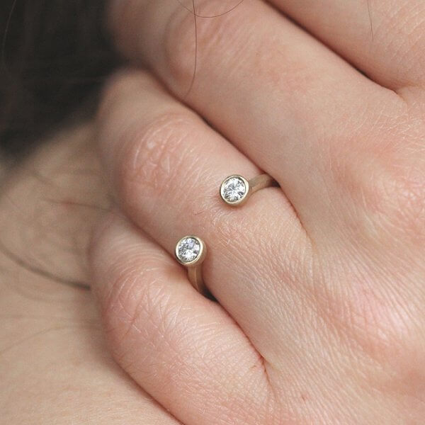 accent moissanite promise ring