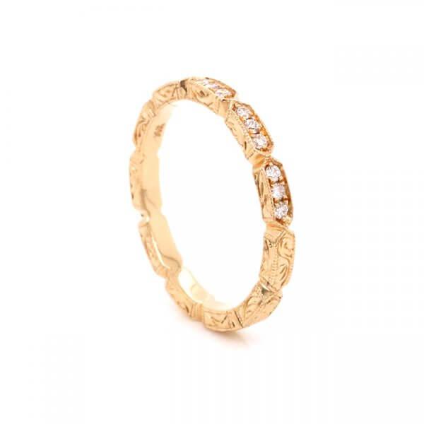 antique diamond wedding band OroSpot