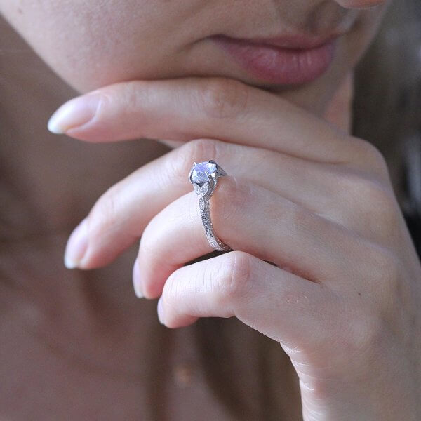 antique moonstone engagement ring
