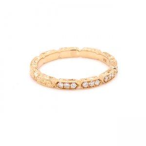 hand engraved wedding ring