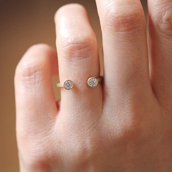 moissanite contemporary wedding ring