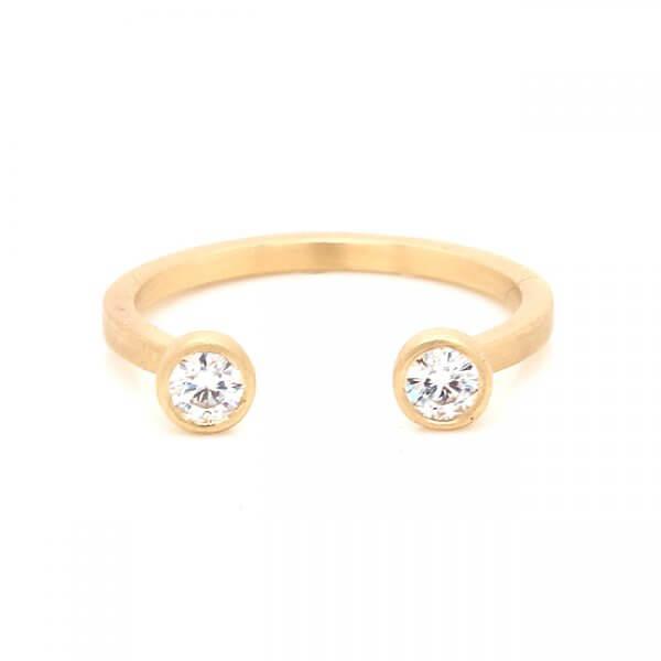 open design modern moissanite ring