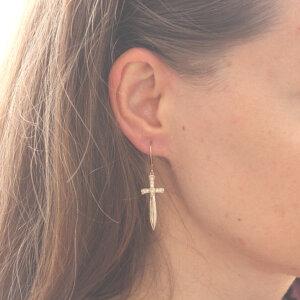 Dagger Cross Sword Earrings OroSpot