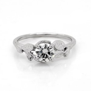 Diamond Nature Inspired Engagement Ring Custom Engagement Rings