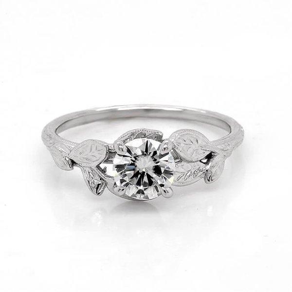 Diamond Nature Inspired Engagement Ring Custom Engagement Rings
