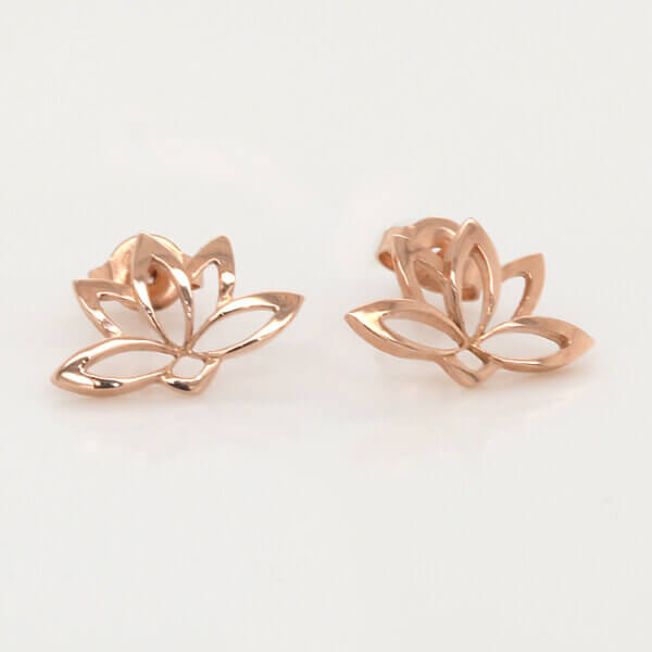 Lotus Buddhist Sacred Symbol Earrings OroSpot