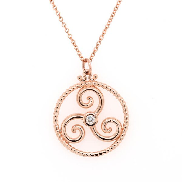 Triskelion Celtic Spiral of Life Pendant