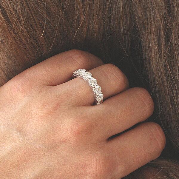 Elegant 4.5mm, 4.5ct Moissanite eternity ring by OroSpot