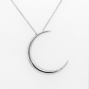 Moon pendant necklace 14k gold by OroSpot