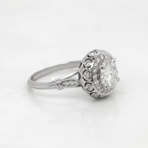 Vintage Bubble Diamond Engagement Ring