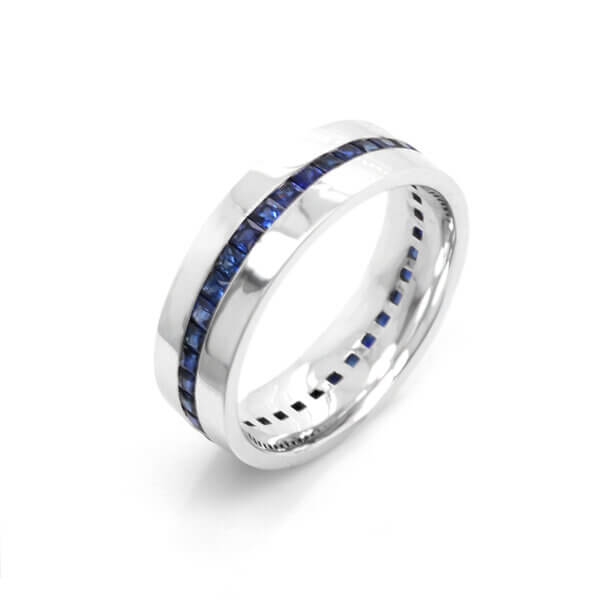 Channel-princess-saphire-wedding-ring-for-a-guy-by-OroSpot