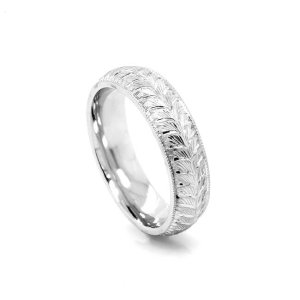 Hand-carved-rounded-mens-wedding-band-comfort-fit-OroSpot
