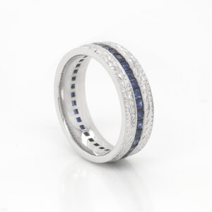 Men's Vintage Sapphire Wedding Ring